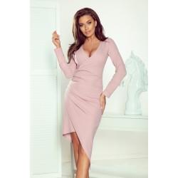 Асиметрична рокля в розов цвят 290-1