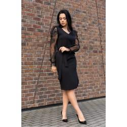 Eлегантна рокля в черен цвят Ereve D08