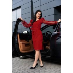 Eлегантна рокля в червен цвят Ereve D08