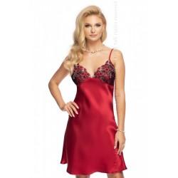 Елегантна сатенена нощница в червен цвят Elodie