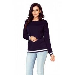 Дамска блуза с дълъг ръкав в тъмносиньо 222-1