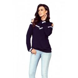 Дамска блуза с дълъг ръкав в тъмносиньо 223-1