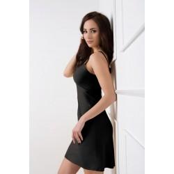 Безшевна черна рокля